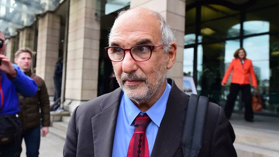 Alan Yentob at Portcullis House before his select committee appearance, October 2015