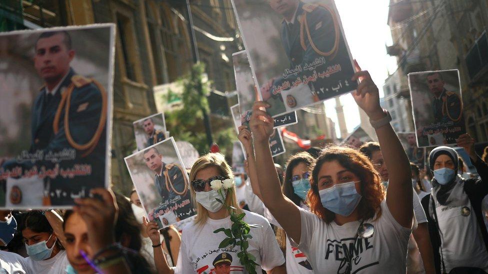 وقفة تذكر لضحايا الانفجار في بيروت
