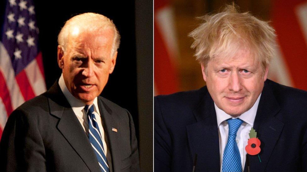 Joe Biden and Boris Johnson split pic
