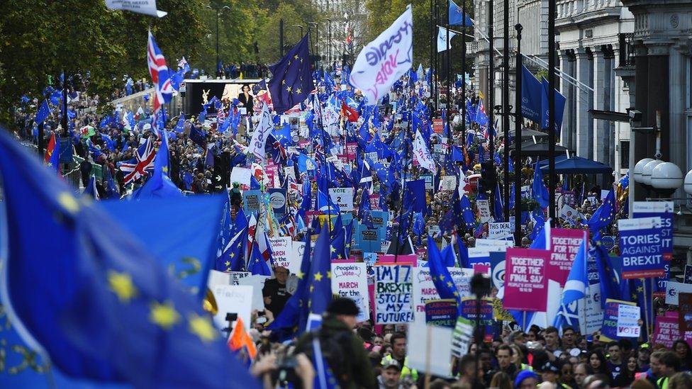 Manifestantes en Londres.