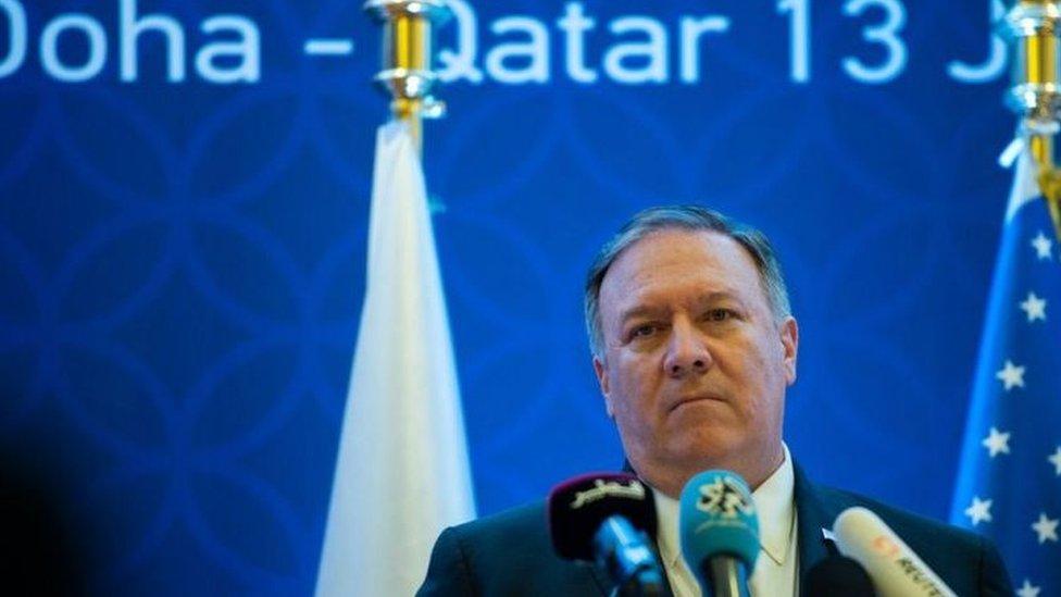 """بومبيو يقول إن """"الخلاف الخليجي يخدم مصلحة الأعداء"""""""