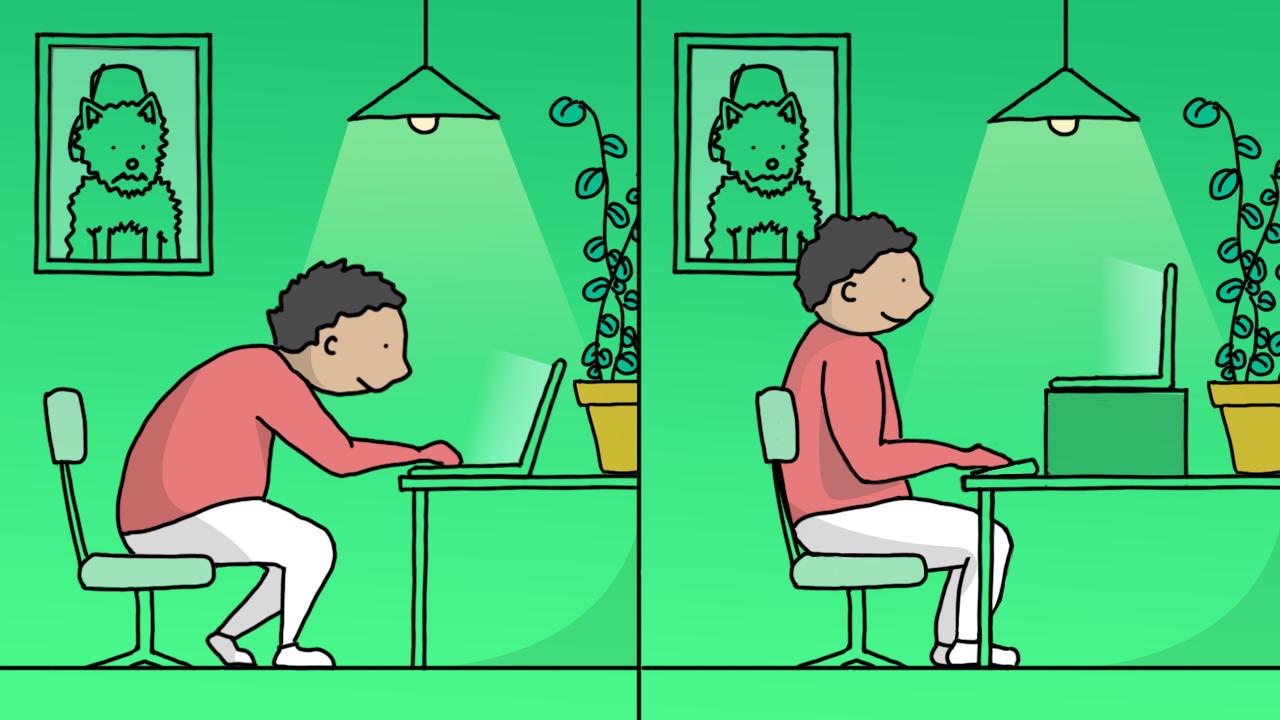 Ilustração de uma pessoa em seu espaço de trabalho