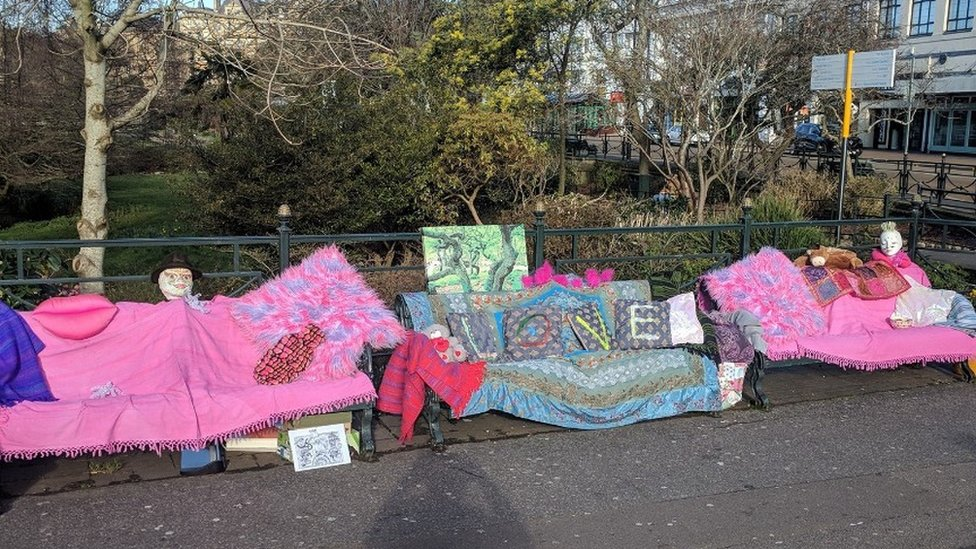 Decorated Bournemouth benches