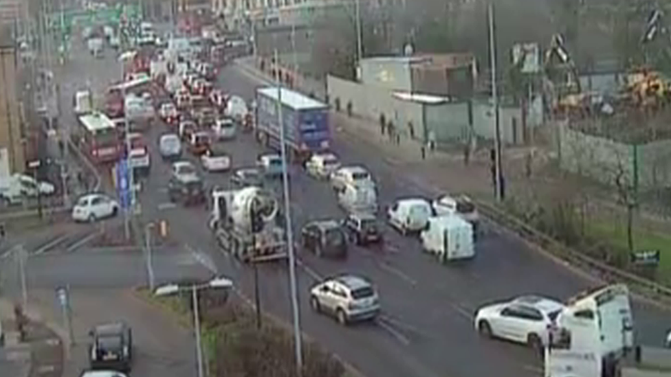 Traffic on Hanger Lane