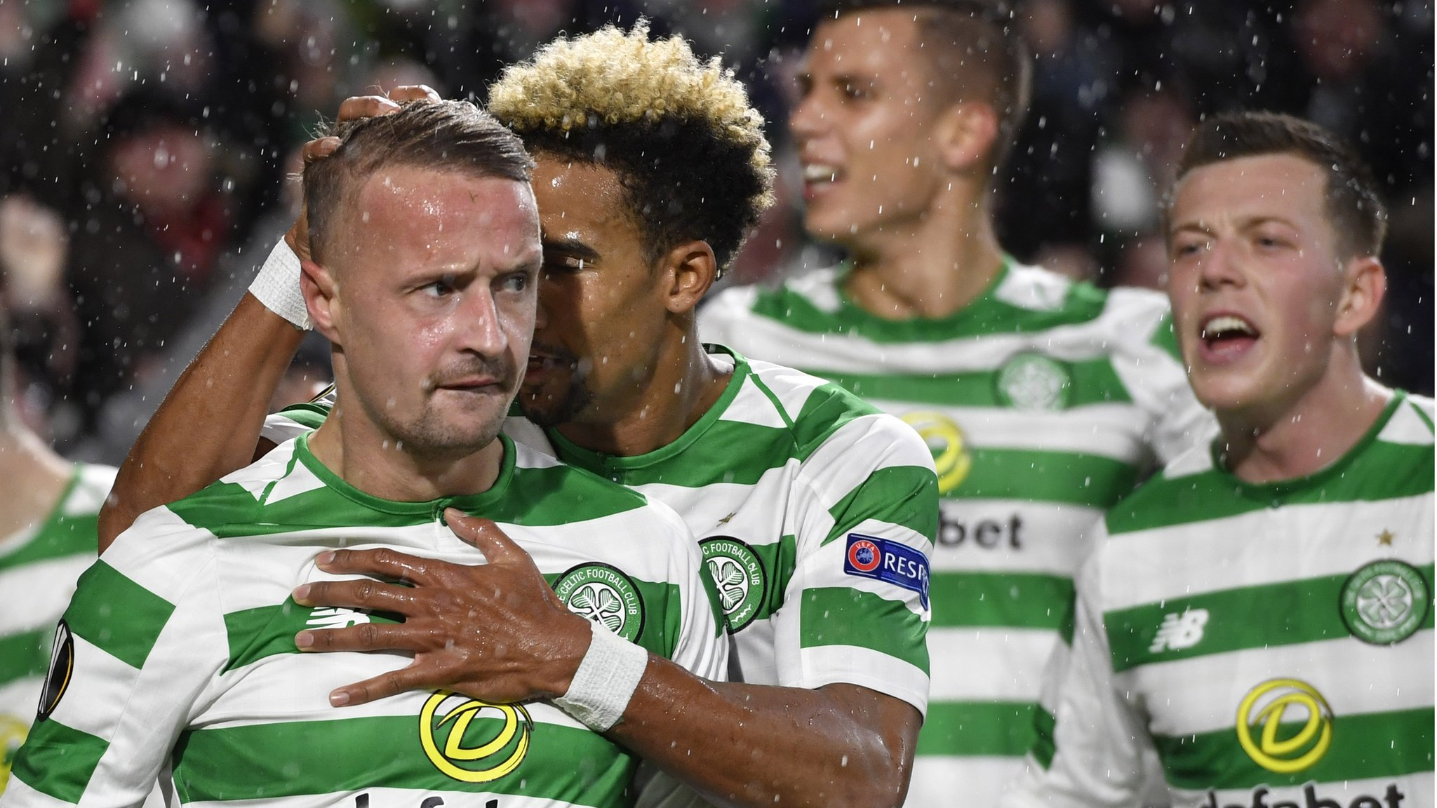 Europa League: Celtic 1-0 Rosenborg - Griffiths header snatches win