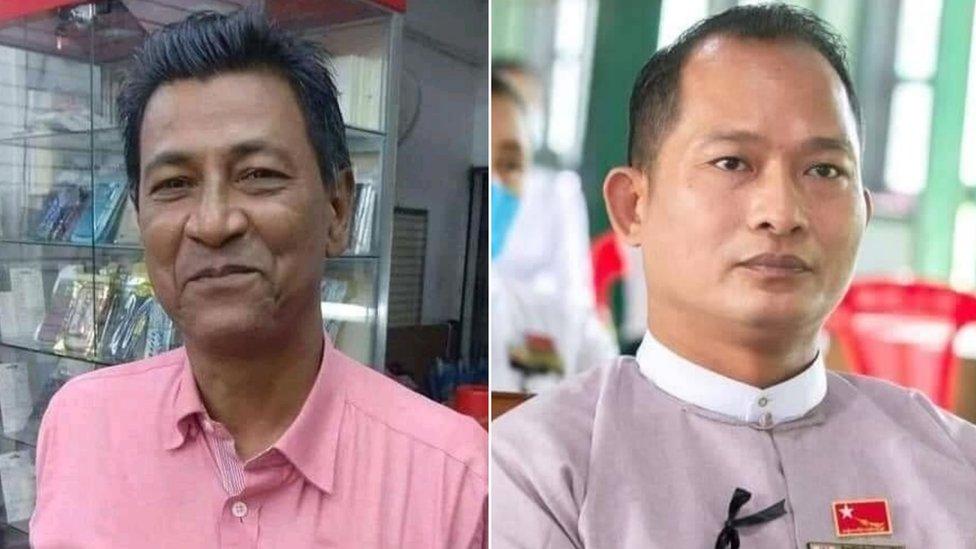 Khin Maung Latt (esq.) e Zaw Myat Lynn (dir.)