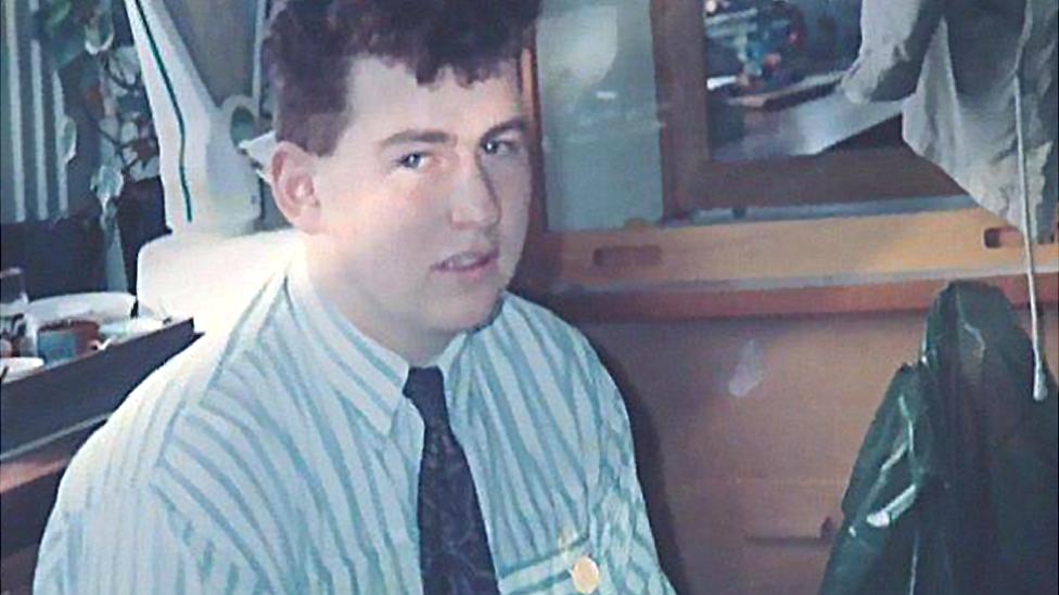 Nigel as a teenager