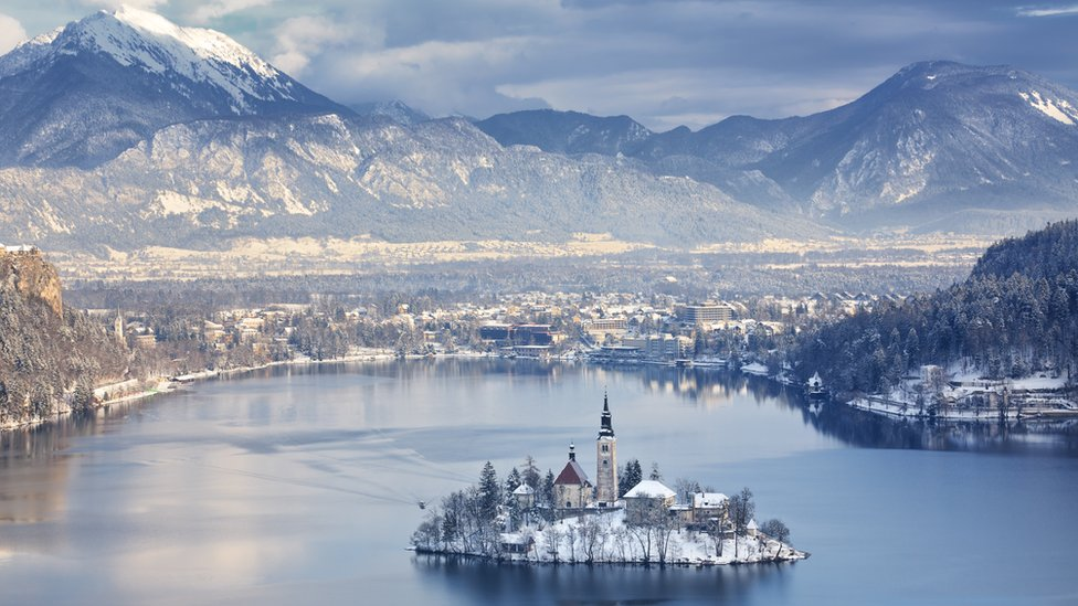 Image shows Bled in Slovenia