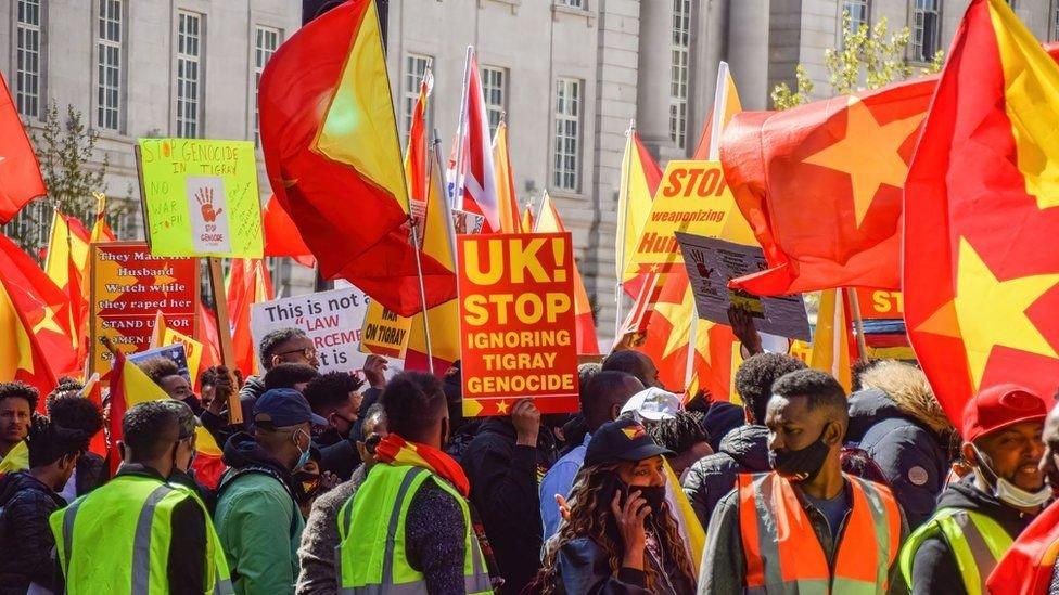 خرجت احتجاجات حول العالم للمطالبة بإنهاء الحرب في تيغراي