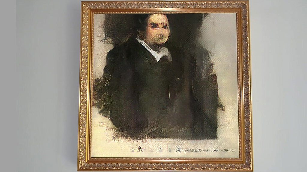 AI painting to go under the hammer