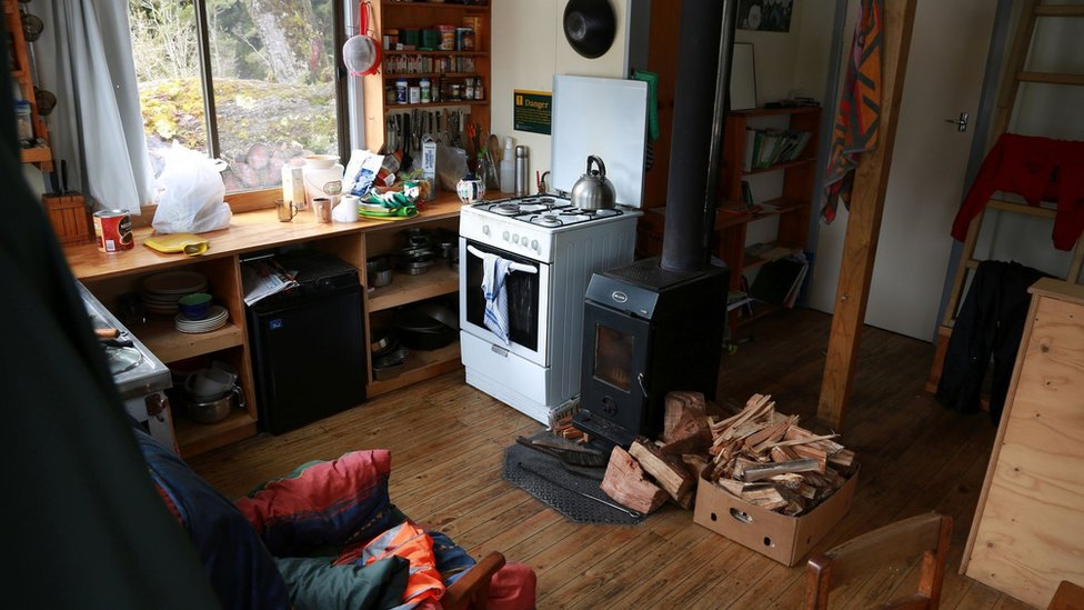 This undated hand out photo released by New Zealand Police on August 26, 2016 shows the inside view of a hut where Czech hiker Pavlina Pizova took refuge in Routeburn track