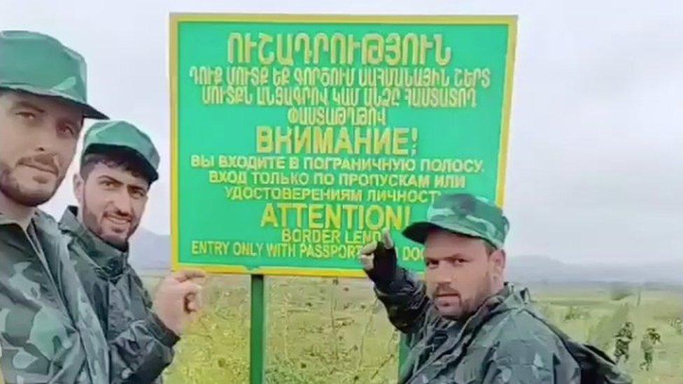 مرتزقة سوريون على حدود آذربيجان