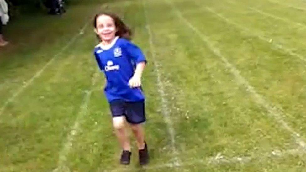 Ellie Butler at sports day
