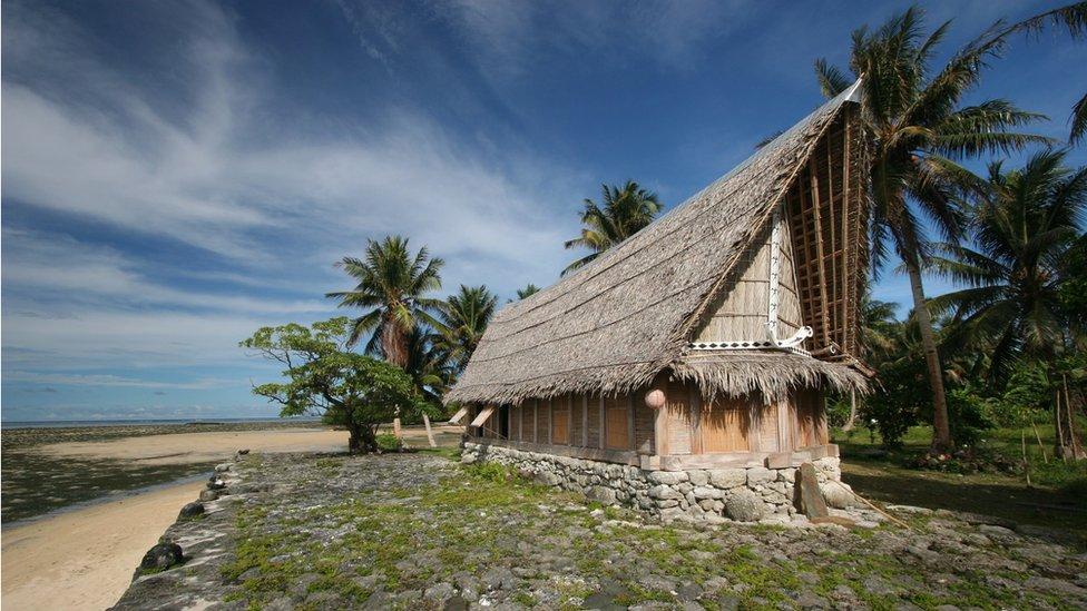 Yap house in Micronesia