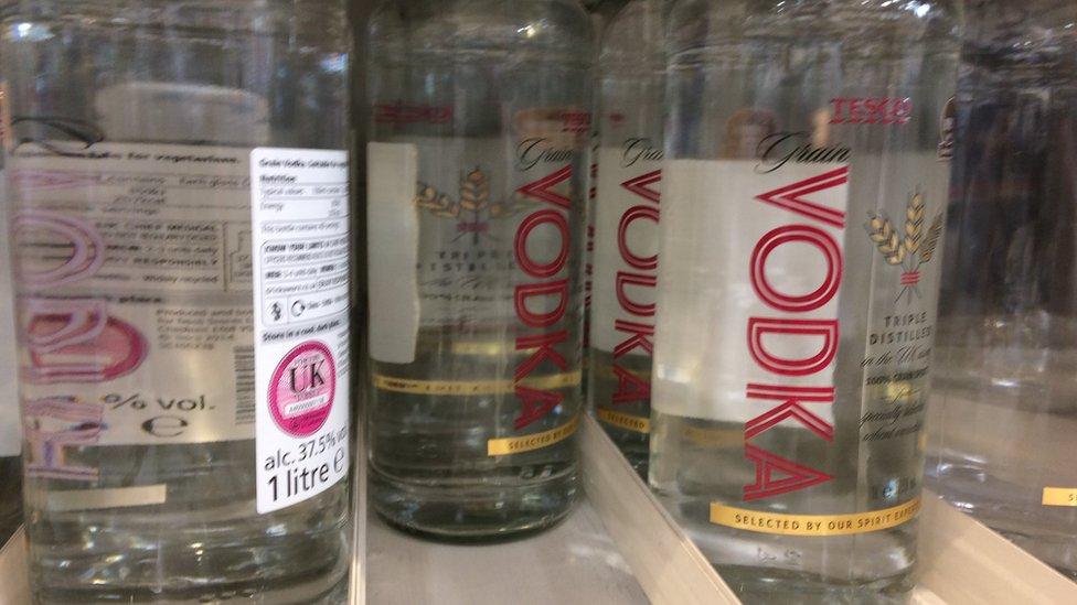 vodka at Tesco