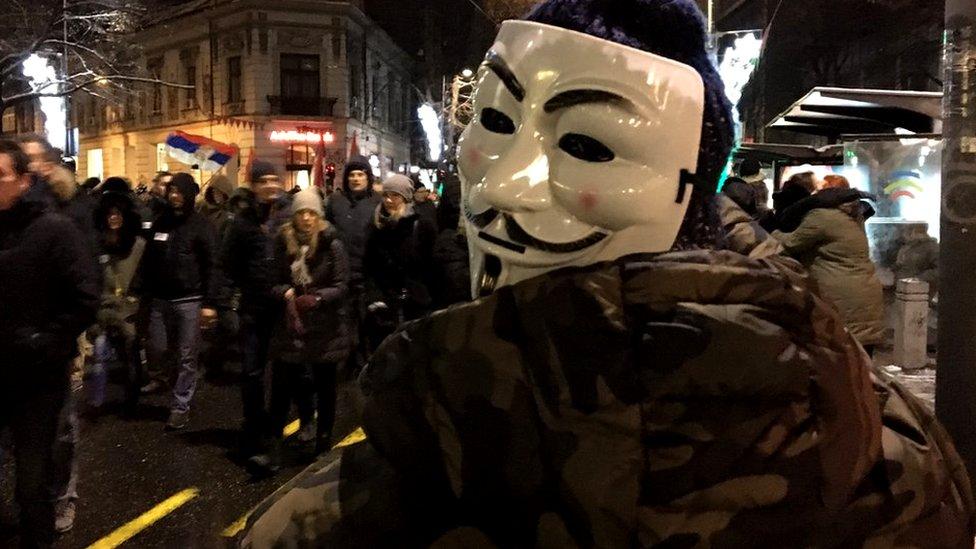 maske protest