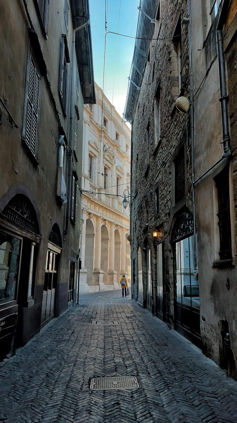 Una calle de Bérgamo, Italia, el 16 de marzo de 2020.