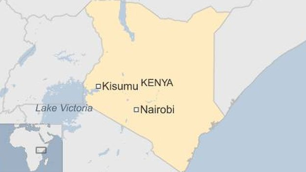 Map showing Kisumu location