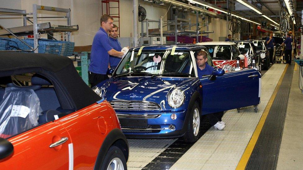 BMW Mini plant in Cowley, Oxford, 13 Sep 06