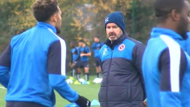 Reading manager Steve Clarke takes training