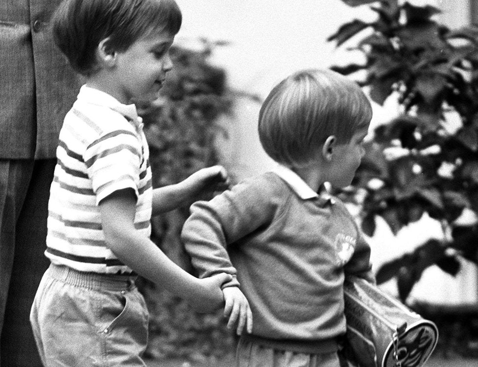 William and Harry as boys