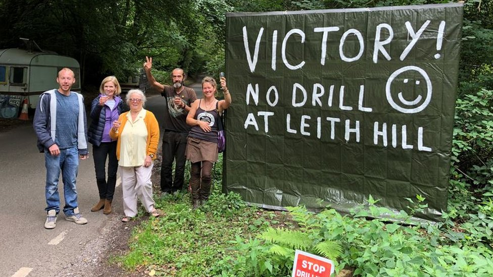 Campaigners at Leith Hill