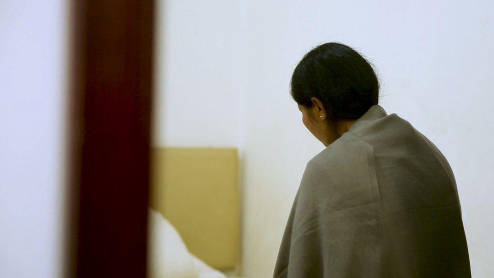 víctima de la trata en China.