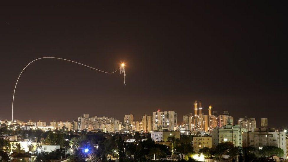 صاروخ أطلق من غزة على إسرائيل