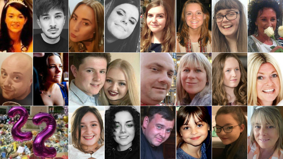 Top row (left to right): Alison Howe, Martyn Hett, Lisa Lees, Courtney Boyle, Eilidh MacLeod, Elaine McIver, Georgina Callander, Jane Tweddle - Middle row (left to right): John Atkinson, Kelly Brewster, Liam Curry, Chloe Rutherford, Marcin Klis, Angelika Klis, Megan Hurley, Michelle Kiss - Bottom row (left to right): Nell Jones, Olivia Campbell-Hardy, Philip Tron, Saffie-Rose Roussos, Sorrel Leczkowski, Wendy Fawell