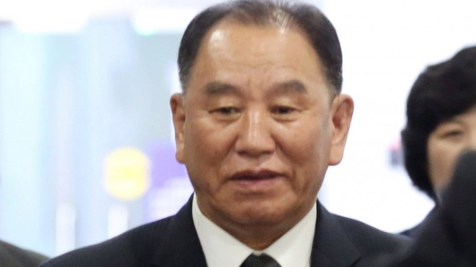 North Korea's Kim Yong-chol on way to Washington