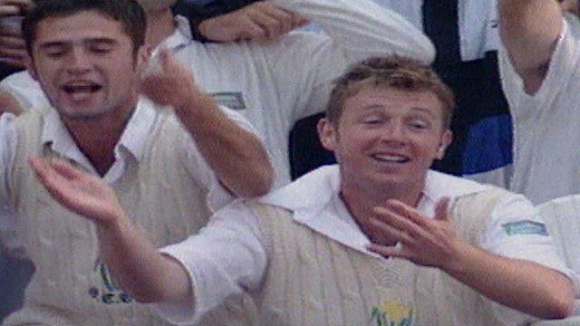 Robert Croft leads celebrations