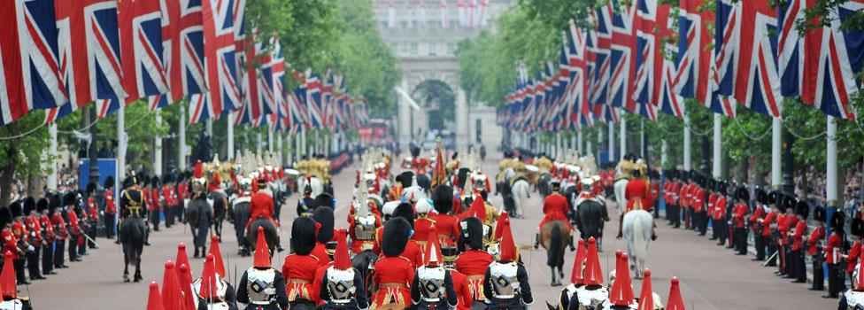 Royal parade in London