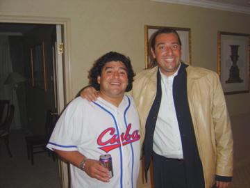 Maradona y Marco Monroy