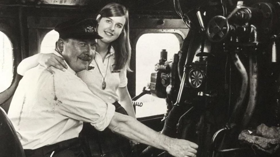 Alan Pegler and his daughter Penny