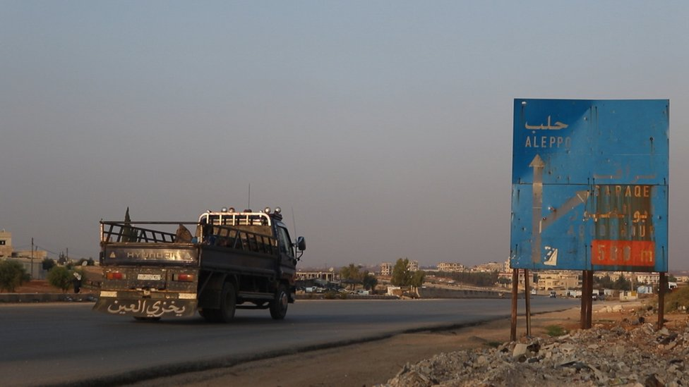 A road near Sarmin in Syria