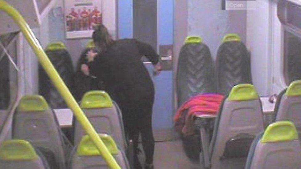 Woman jailed for 'frenzied' murder bid on train