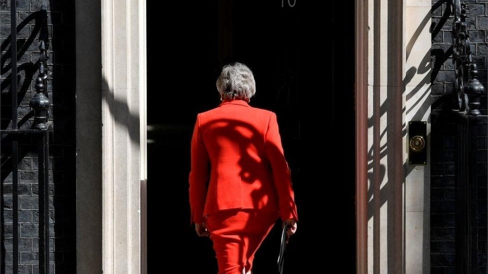 Theresa May entering no 10