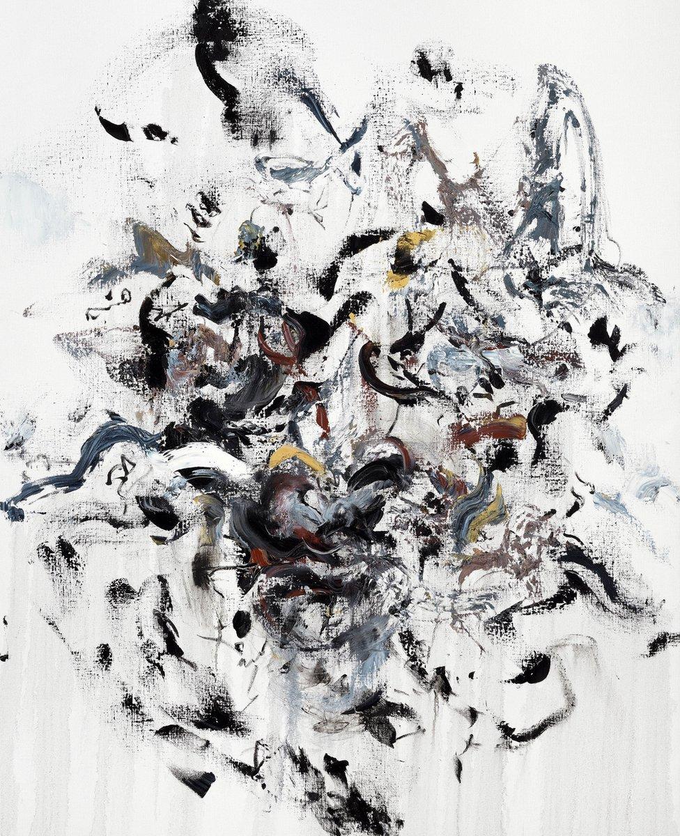 Self portrait (angry), by Maggi Hambling