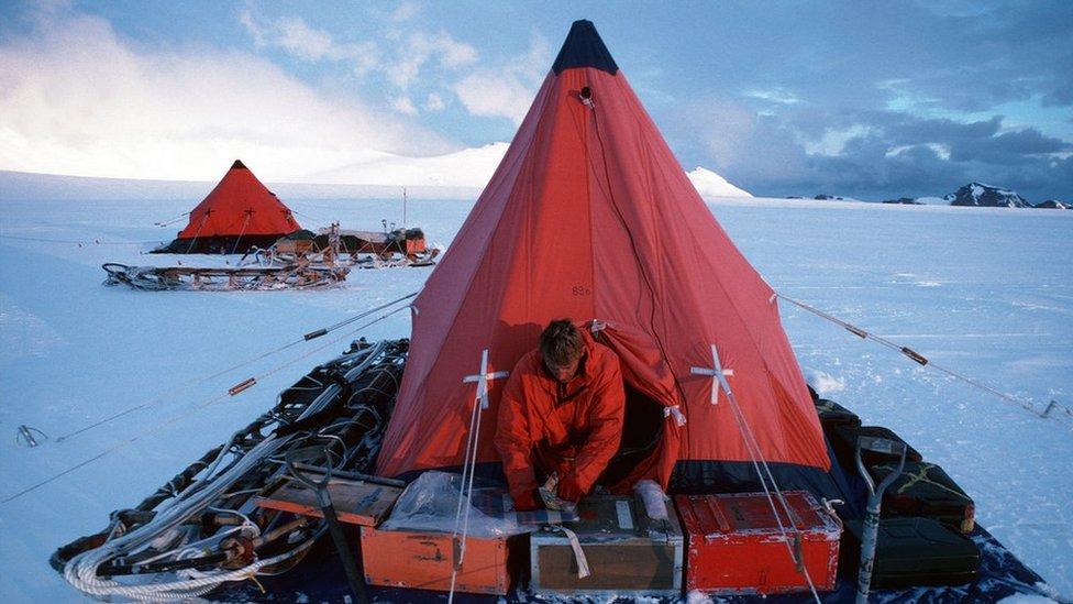 A British Antarctic Survey field camp