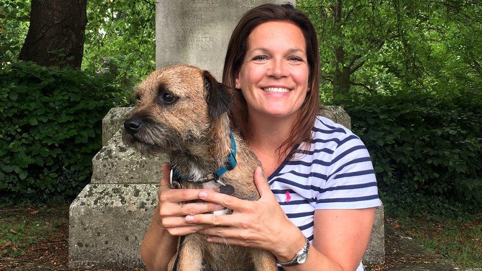 Samantha Fryer and dog Arthur