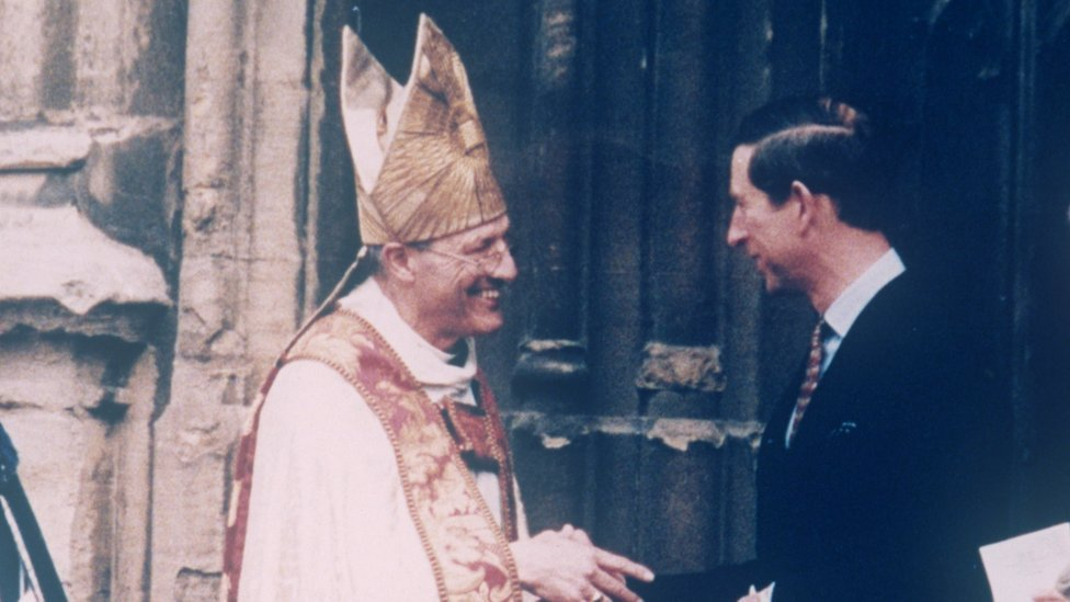Prince Charles and Bishop of Gloucester Peter Ball - April 1993