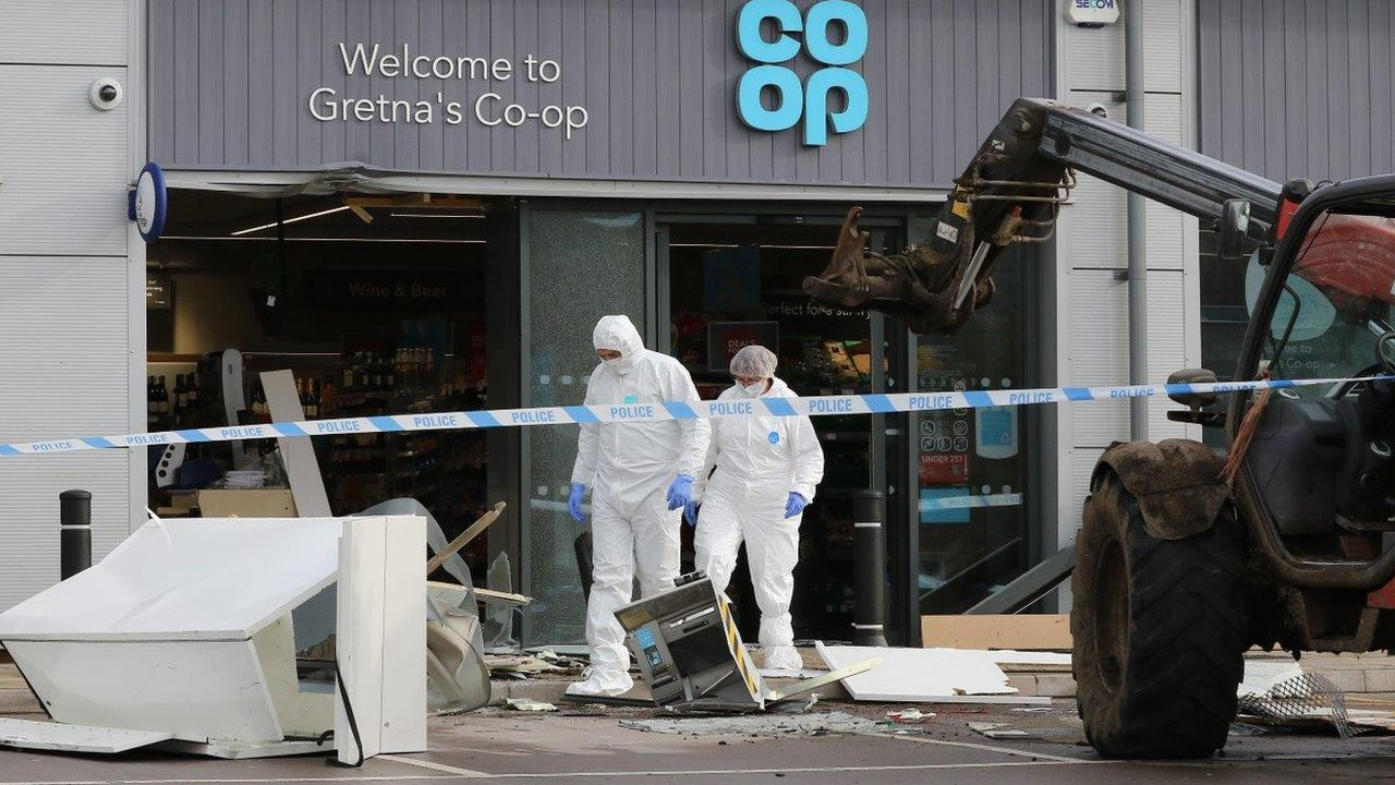 Robbers steal farm forklift to raid Gretna Co-op ATM
