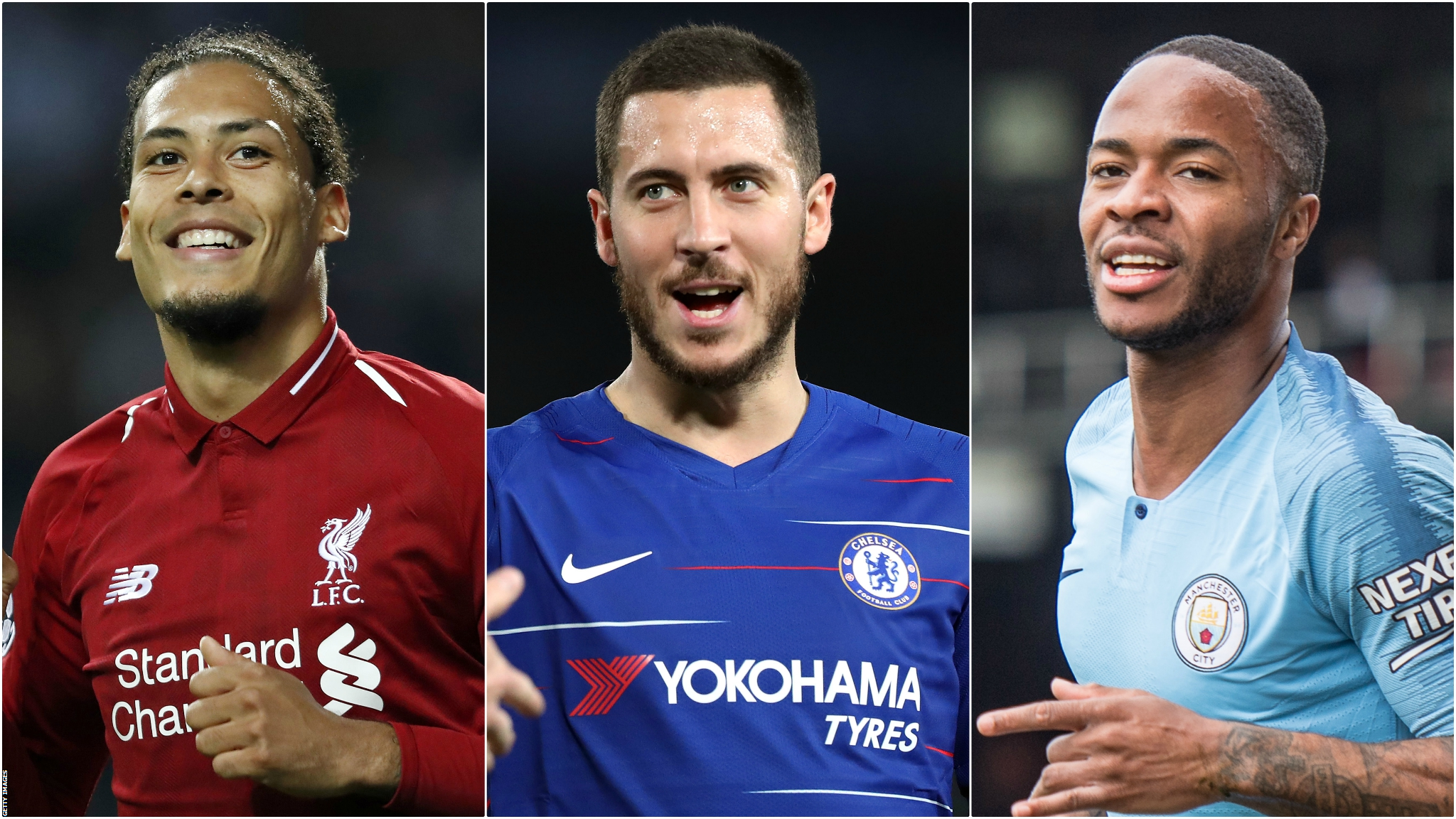 PFA Player of the Year: Sterling, Van Dijk, Aguero, Hazard, Mane & Silva on shortlist