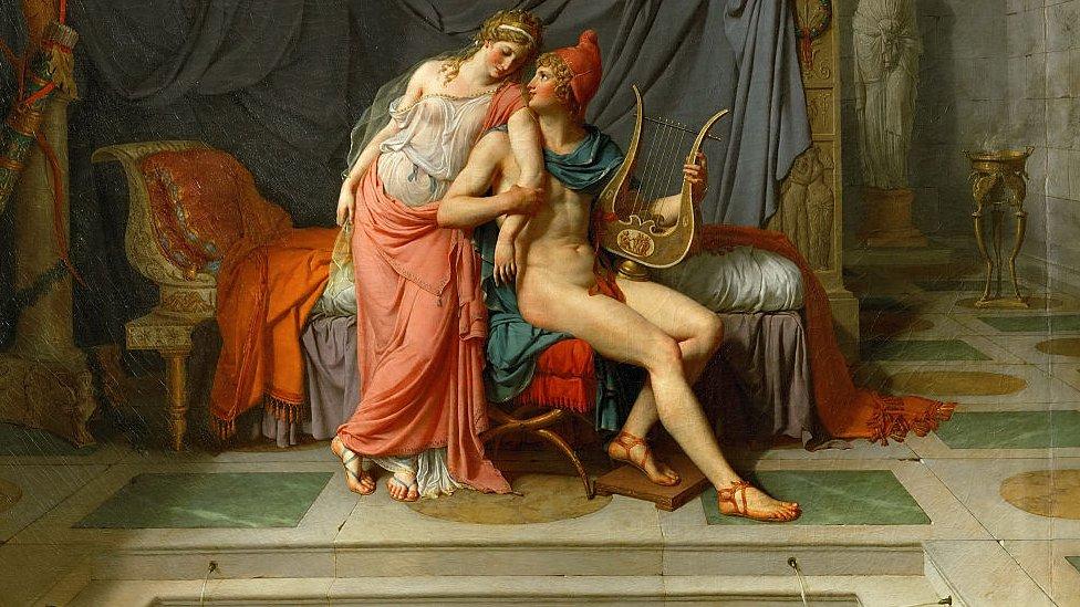 """""""Los amores de Helena y París"""", de Jacques Louis David. (1748-1825)"""