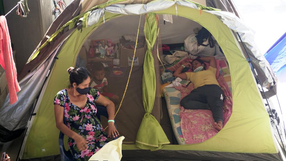 Campos de refugiados en Arauquita