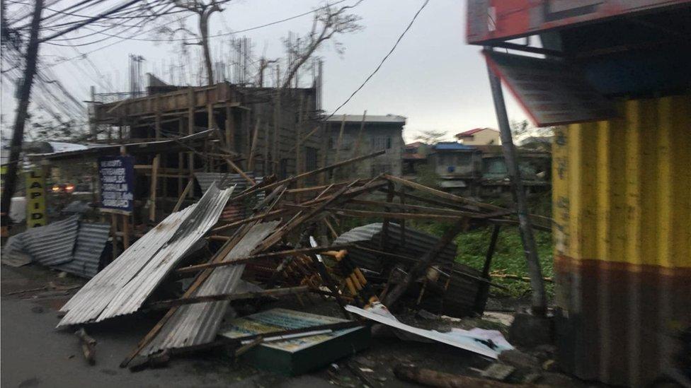 Collapsed stalls in Tuguegarao