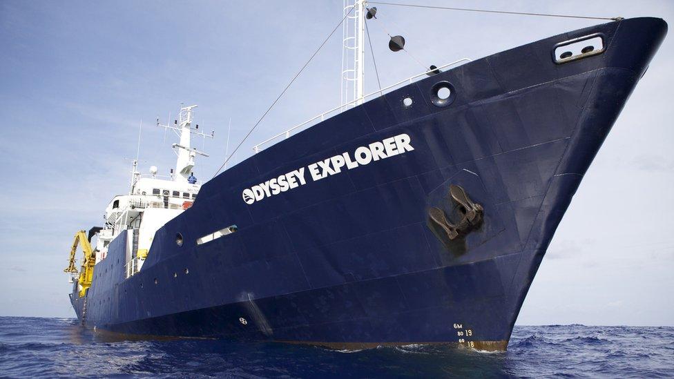Odyssey's 251' archaeological platform RV Odyssey Explorer