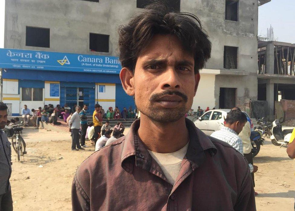 Sukhram Ahirwal is a construction worker