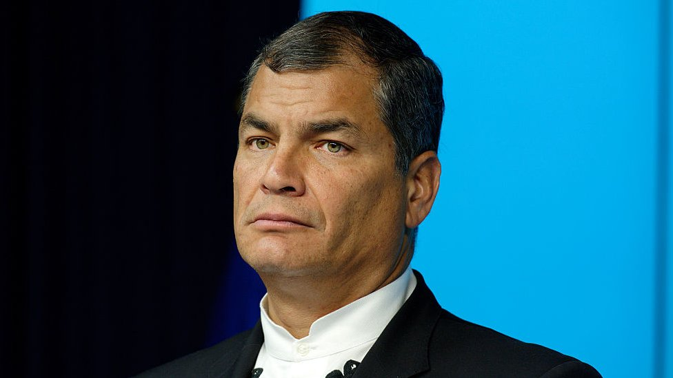 Rafael Correa, expresidente de Ecuador.