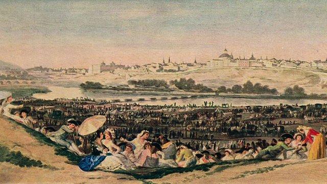 """""""La pradera de San Isidro"""", cuadro de Francisco de Goya"""